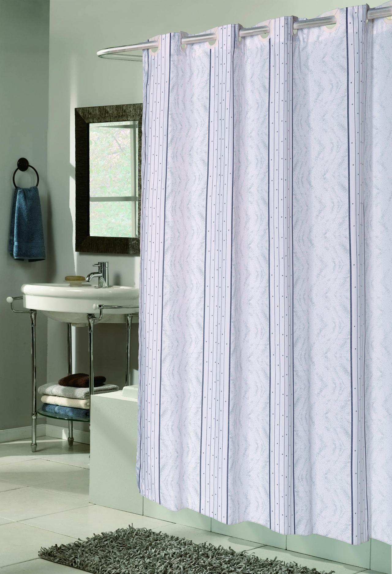 Fabric Shower Curtain No Liner Needed