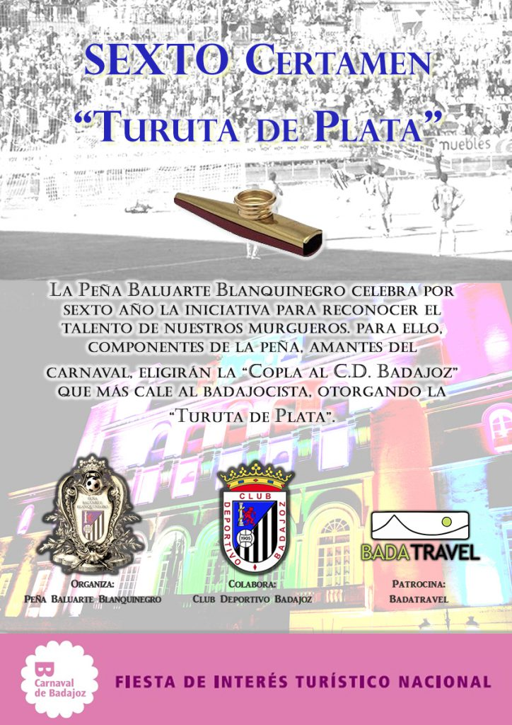 Cartel concurso Turuta de plata, sexta edición