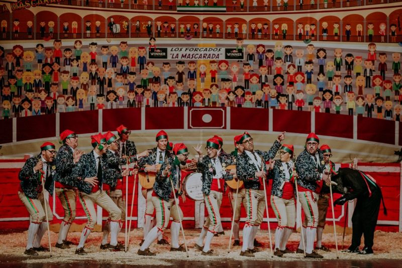 Preliminares COMBA 2019. Actuación de la murga La Mascarada
