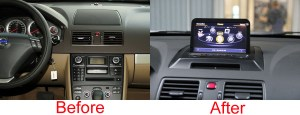 Volvo XC90 20072013 Aftermarket Navigation Car Stereo Upgrade