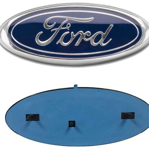"2004-2014 Ford F150 Front Grille Tailgate Emblem, Oval 9""X3.5"", Dark Blue Decal Badge Nameplate Also Fits for F250 F350, 11-14 Edge, 11-16 Explorer"