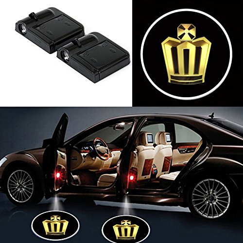 2 Pcs Wireless Car Door Led Welcome Laser Projector Lexus Light Ghost Shadow Light Lamp Logos