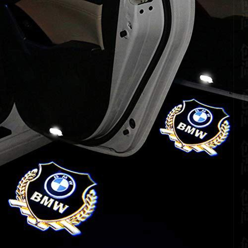 2 Pack LED Gold Door Light Logo Projector Welcome Light For BMW LED Door Light
