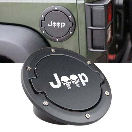 Fuel Filler Door Cover Gas Cap Exterior Accessories For Jeep Wrangler JK & Unlimited 2007-2017 Jeep Logo