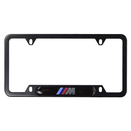 2pcs M & M Performance Stainless Steel License Frame with for BMW,with Screw Caps Cover Set-Black