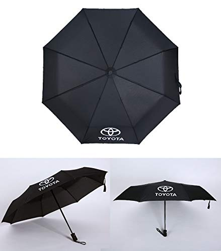 Auto Sport AUTO Open Large Folding Umbrella Windproof Sunshade with Car Logo (Toyota)