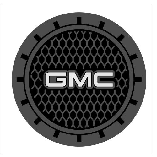Auto sport 2.75 Inch Diameter Oval Tough Car Logo Vehicle Travel Auto Cup Holder Insert Coaster Can 2 Pcs Pack for GMC Accessory