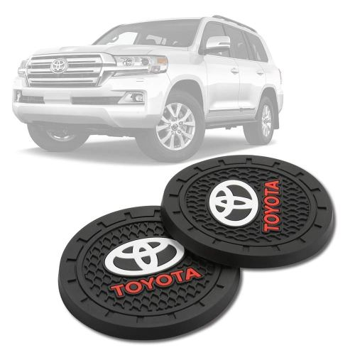 YAOS Toyota car Cup Coasters 2 Pack 2.75 Toyota car Cup Holder Coasters for car Coasters for Women Toyota car Coasters for Cup Holder Insert Toyota car Cup Holder Liner car Accessories