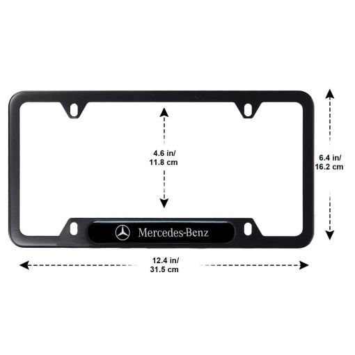2-Pieces High-Grade License Plate Frame for Mercedes Benz, License Plate Cover for Mercedes Benz