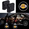 2Pcs NBA Los Angeles Lakers Universal Wireless Car Door Lights Logo for Los Angeles Lakers Car Door Led Projector Lights, Upgraded Car Door Welcome Logo Lights for Los Angeles Lakers All Models
