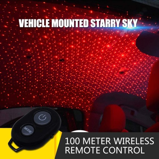 USB 100mw Laser Atmosphere Ambient Star led Glow The interiors Multiple Modes Lights for car/Home/Party (Starry Sky)