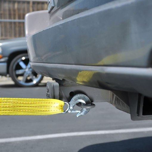 "Neiko 51005A Heavy Duty Tow Strap with Safety Hooks | 2"" x 20' 