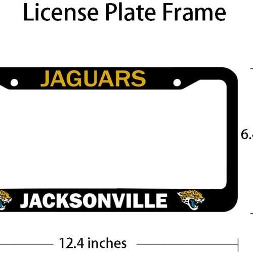 Fit Las Vegas Raiders License Plate Frames Black, Aluminum Alloy Raiders License Plate Holder,Universal American Auto Licence Plate Frame Covers, Rust-Proof, Rattle-Proof, Weather-Proof (Fit Raiders)