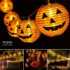 Pumpkin Lights Halloween String light- 7.5ft 10 LEDs Halloween lights Decorations, 2 Lighting Modes Battery-Powered DIY 3D Jack-O-Lantern Orange Pumpkin Lights for Party Patio Indoor Outdoor