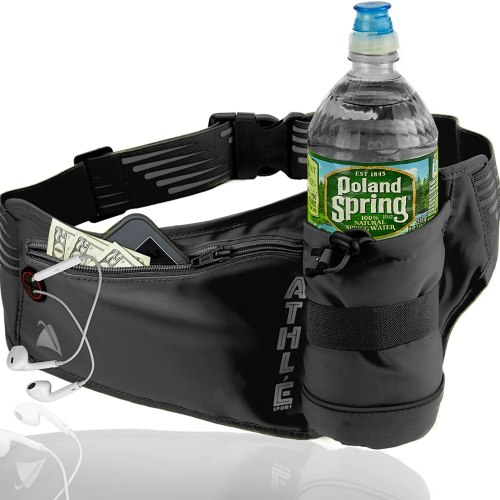 Athle Sport Running Belt with Vertical Bottle Pocket