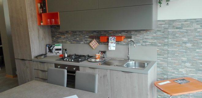 cucina lineare - panoramica laterale destra