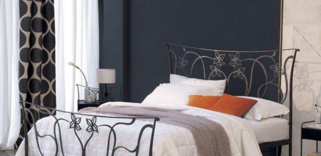 letto in ferro battuto modello violetta_ barel