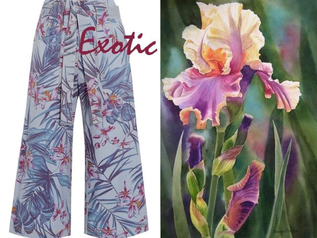 SUNO Floral-print denim trousers £525