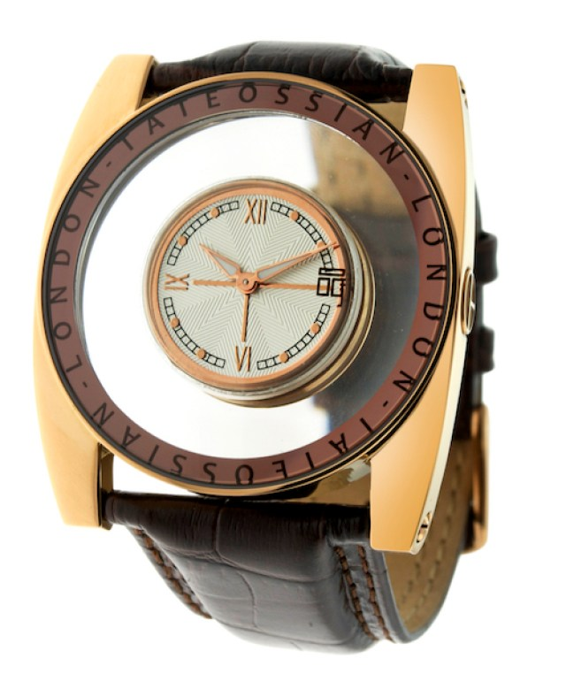 Flottante Rose Gold With Italian Leather Croc Strap