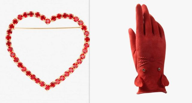 "• Clutch "" L'Arrache Coeur ""- Olympia Le Tan, € 1,400.00 • Lamp ''One from the heart ', Ingo Maurer, € 529.00"