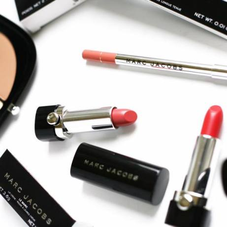 eyeliner and lipstick by Marc Jacobs