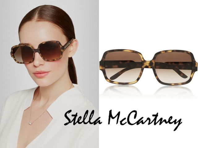 STELLA MCCARTNEY Square-frame matte acetate sunglasses £175