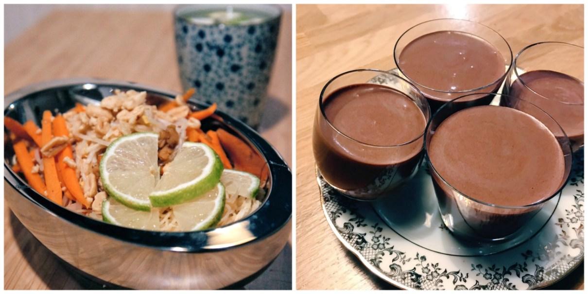 Deux recettes veganes inratables : un pad thai végétalien aux protéines de soja et des mousses au chocolat végétaliennes au pois chiche
