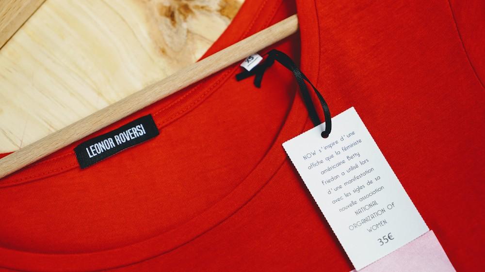 Leonor Roversi étiquette du tee shirt