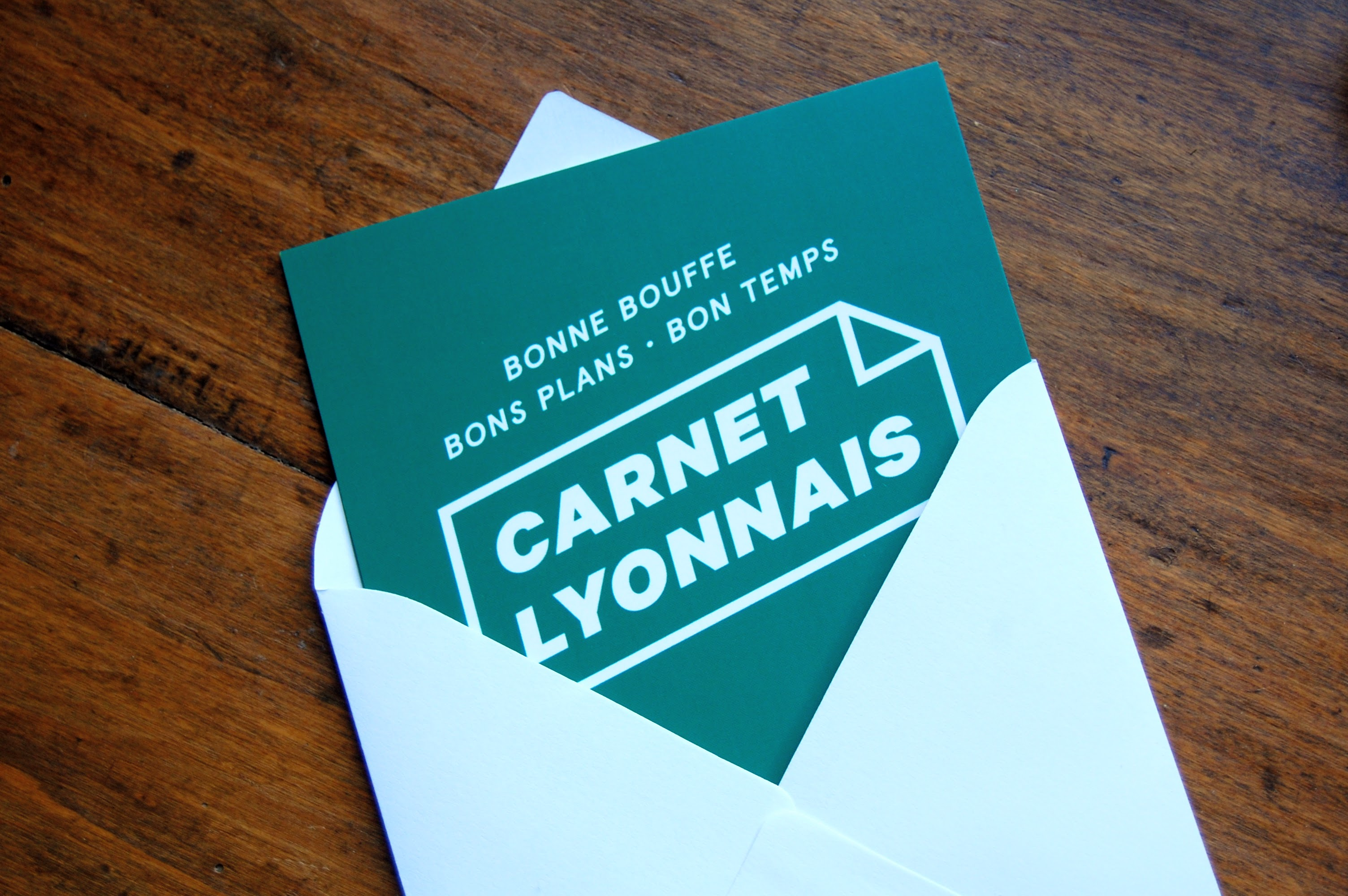 Invitation popcarte carnet lyonnais