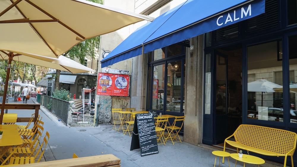 facade du restaurant CALM comme a la maison à lyon satonay