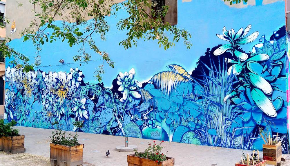 street art a lyon sur la place mazagran