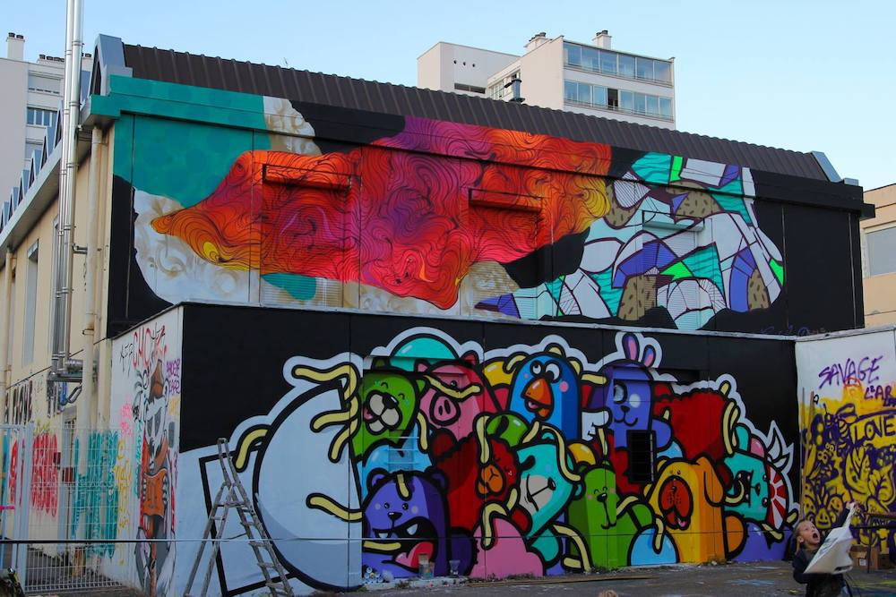ou voir du street art a lyon la rue thevenet