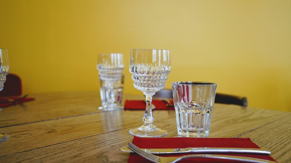 verres anciens café anne lyon