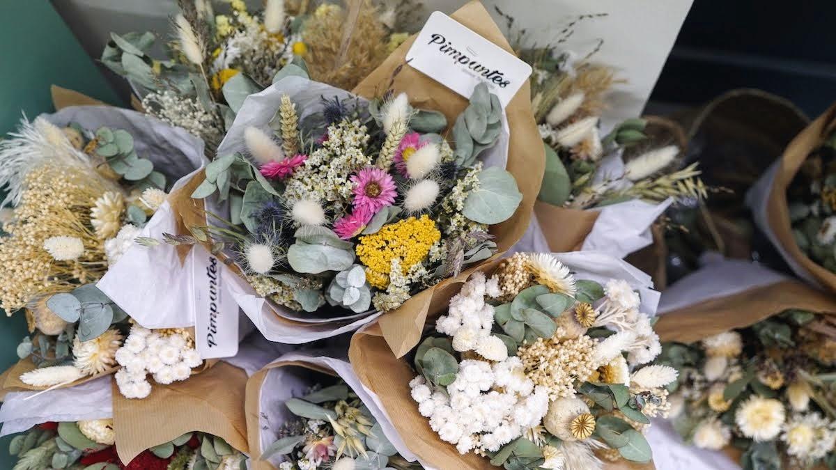 bouquets de fleurs séchées à lyon
