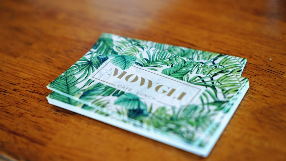carte de visite mowgli cafe lunch