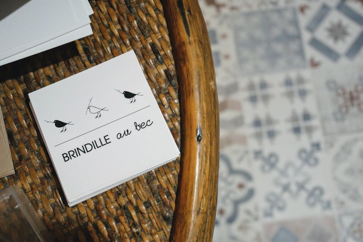 carte de visite brindille au bec
