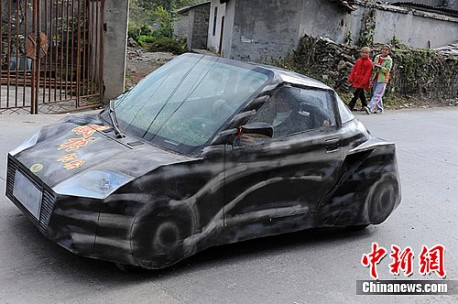 Home-made amphibious car from China