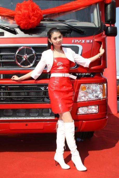 Big Trucks and sexy Chinese girls