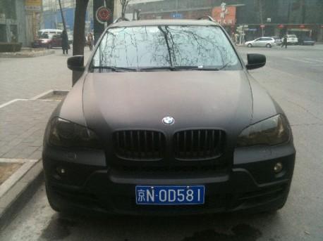 matte-black BMW X5