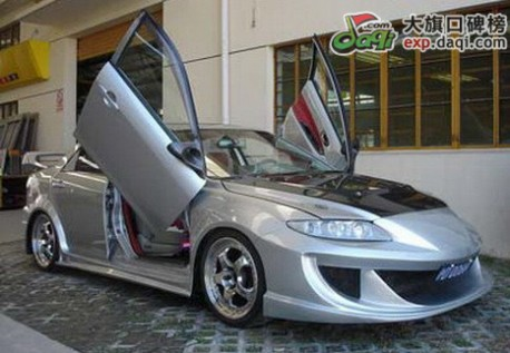 Mazda 6 with Lambo-doors