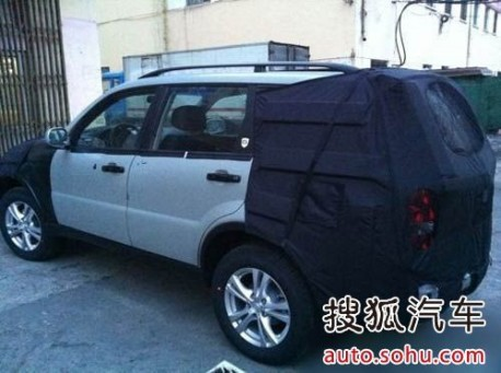 new Ssangyong Rexton SUV testing in China