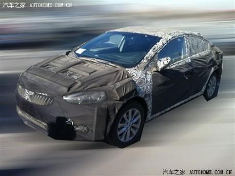Kia K3 testing in China
