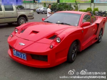 A Geely Meirenbao Thinks It Is A Bentley Ferrari Carnewschina