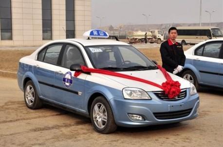 Chang'an E30 electric taxi in Beijing