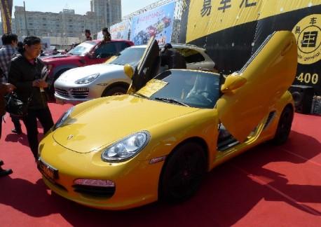 Porsche Boxter with Lambo-doors