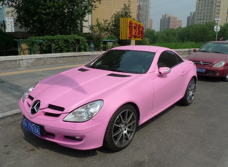 Spotted In China Mercedes Benz Slk In Matte Pink Carnewschina