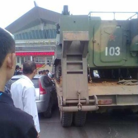 Chinese Army hits a Citroen C4