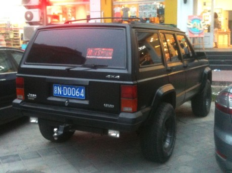 Beijing-Jeep Cherokee in matte-black in China