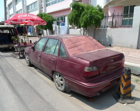Spotted in China: Daewoo Cielo is a storage room