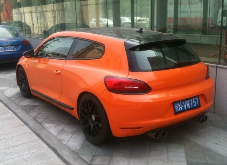 Volkswagen Scirocco is very Orange in China